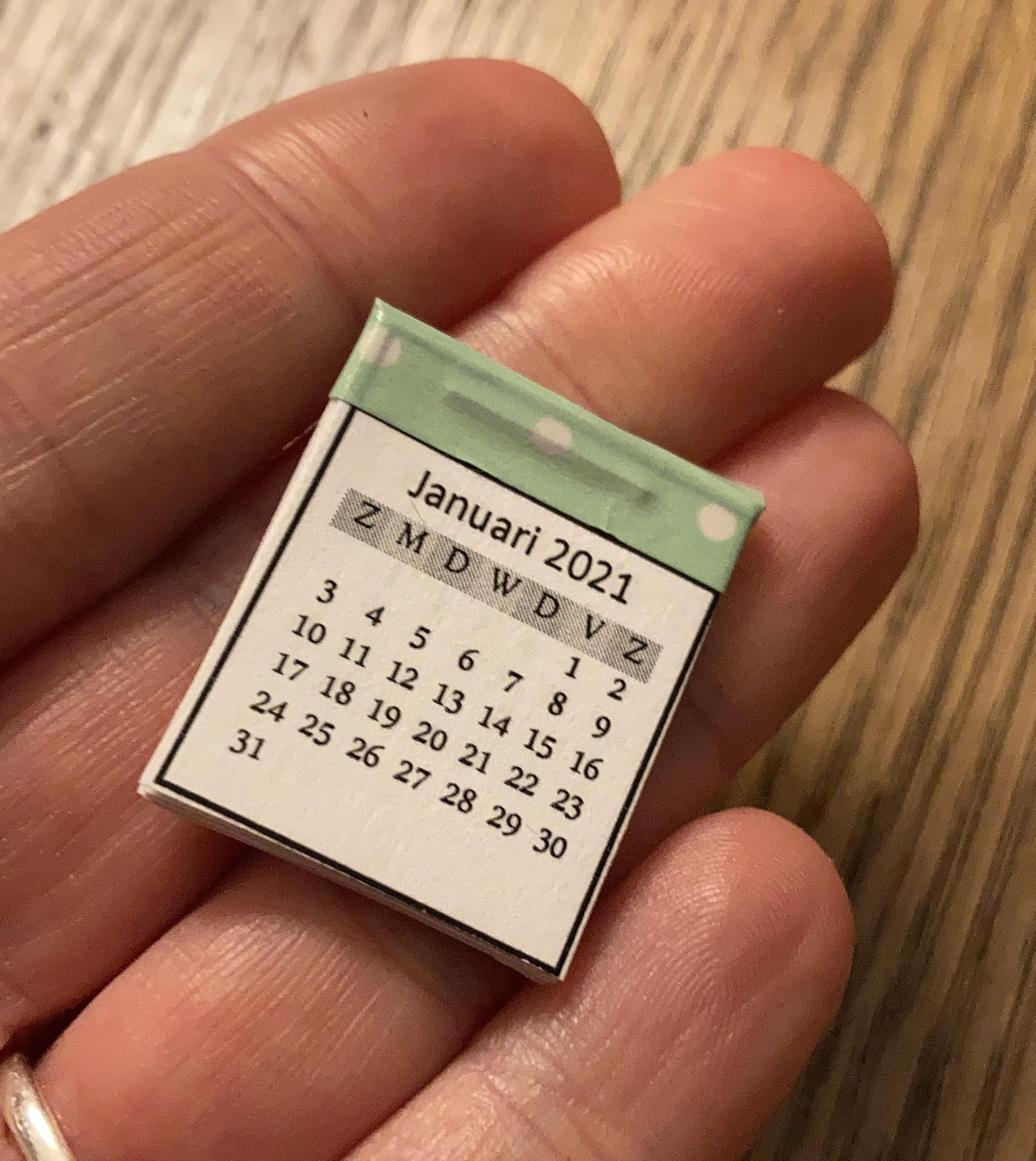 poppenhuiskalender